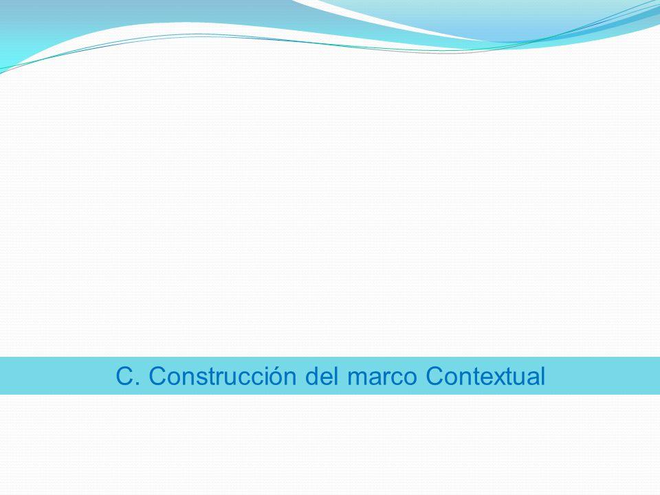 C. Construcción del marco Contextual