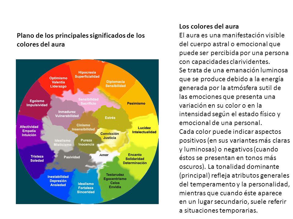 Los colores del aura El aura es una manifestación visible del cuerpo astral o emocional que puede ser percibida por una persona con capacidades clariv
