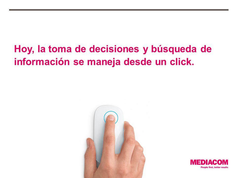 Hoy, la toma de decisiones y búsqueda de información se maneja desde un click.