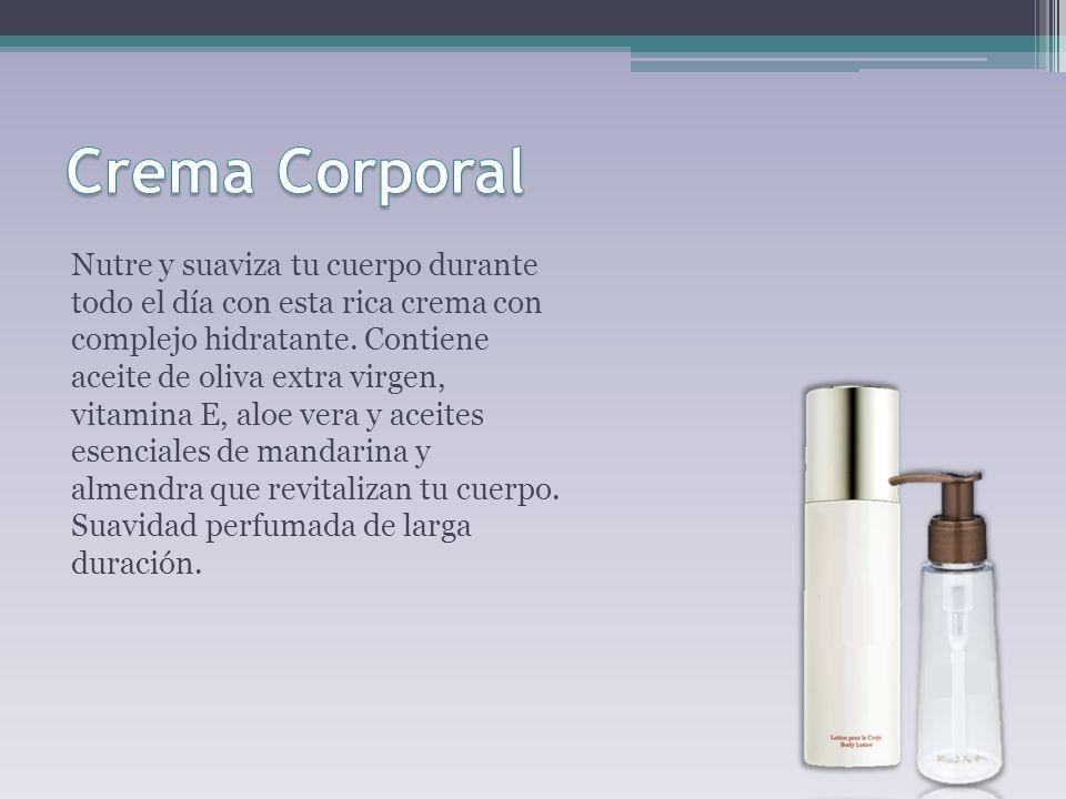 Nutre y suaviza tu cuerpo durante todo el día con esta rica crema con complejo hidratante.