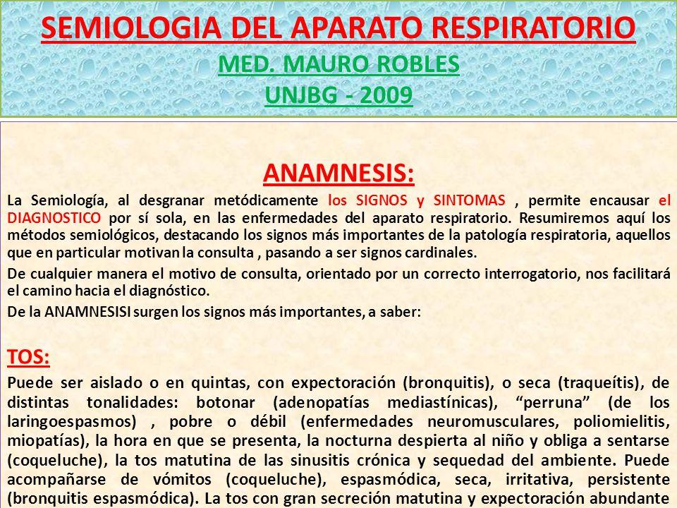 SEMIOLOGIA DEL APARATO RESPIRATORIO MED.