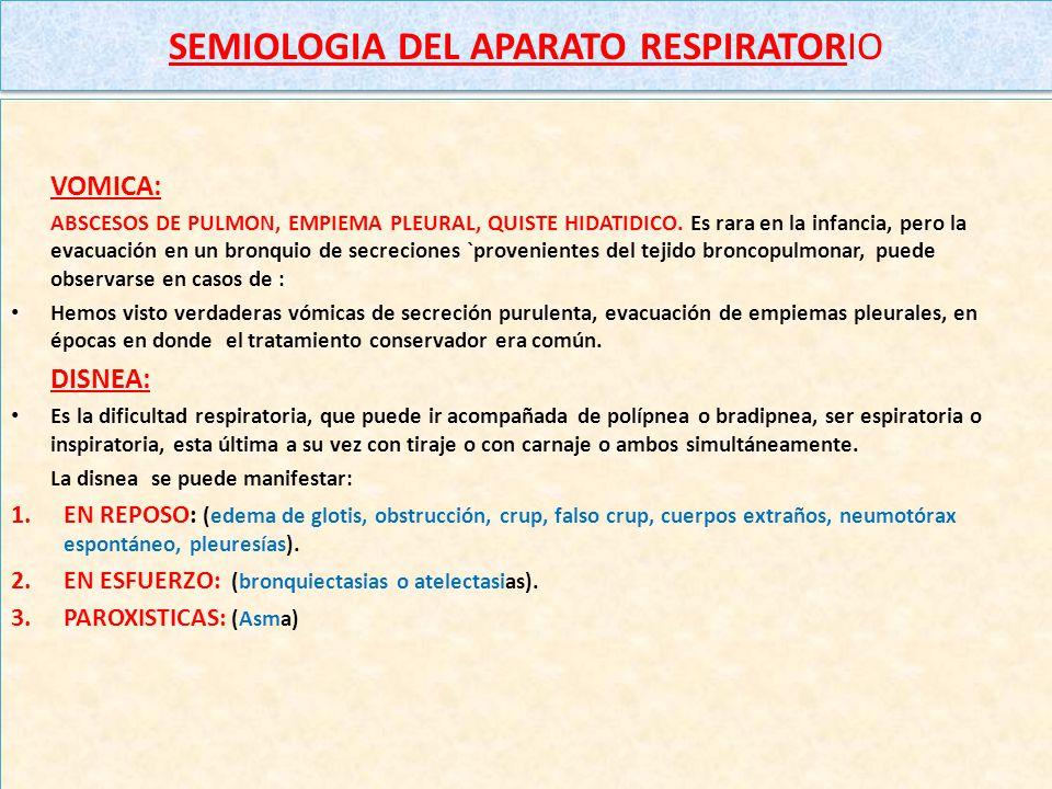 SEMIOLOGIA DEL APARATO RESPIRATORIO DOLOR TORACICO: Tiene distinta exteriorización con la edad: LACTANTE, llora al cambiarlo de posición o higienizarl