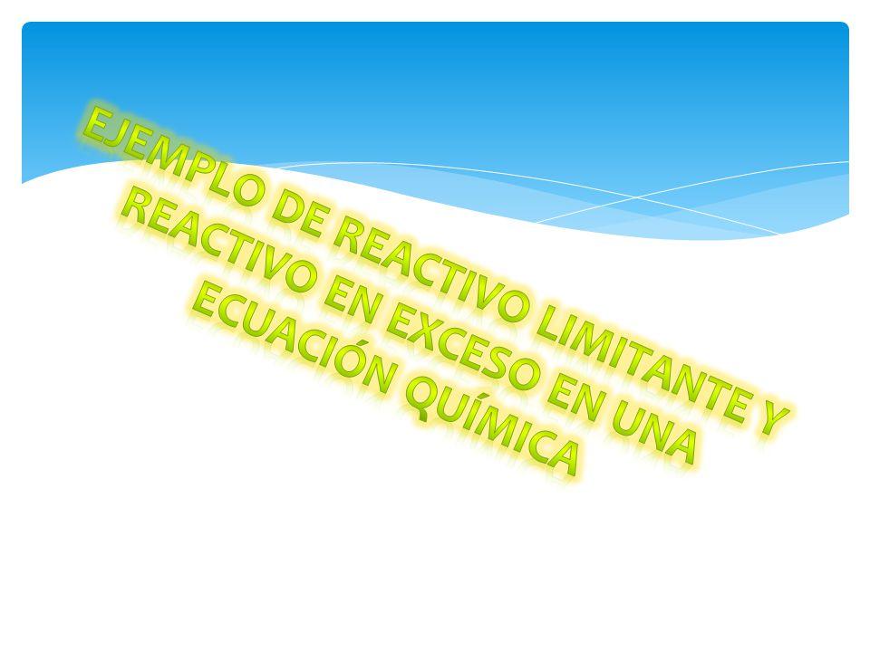 Obtener el reactivo limitante y en exceso de la siguiente ecuación balanceada si para esta reacción se cuentan con 14 moles de H 2 y 4 moles de N 2.