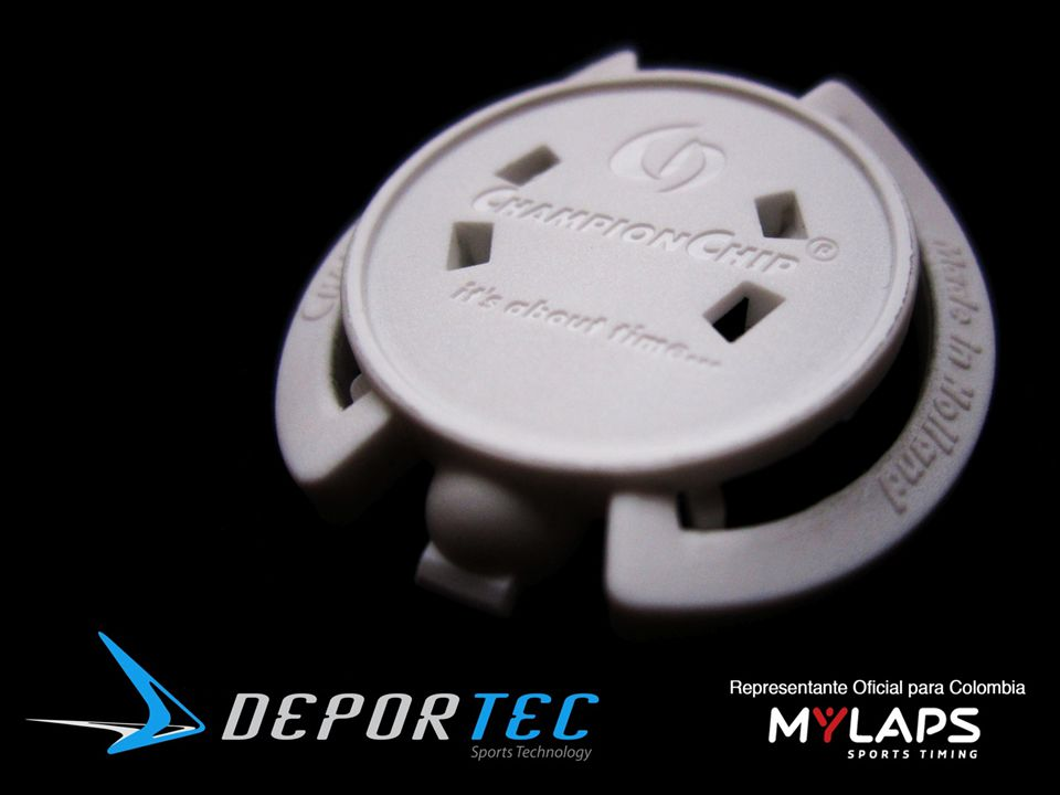Quiénes somos o Deportec es la compañía líder en cronometraje electrónico en Colombia o Representante oficial de la compañía holandesa MyLaps – ChampionChip o Medimos el tiempo de 25 de los principales eventos atléticos en el país o Reconocidos en la industria por innovación, inmediatez, precisión y calidad