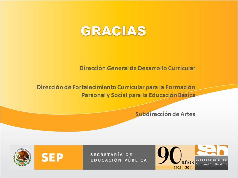 Dirección General de Desarrollo Curricular Dirección de Fortalecimiento Curricular para la Formación Personal y Social para la Educación Básica Subdir