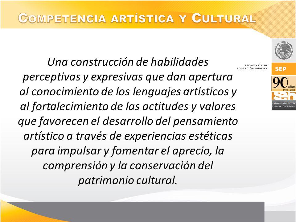 Una construcción de habilidades perceptivas y expresivas que dan apertura al conocimiento de los lenguajes artísticos y al fortalecimiento de las acti