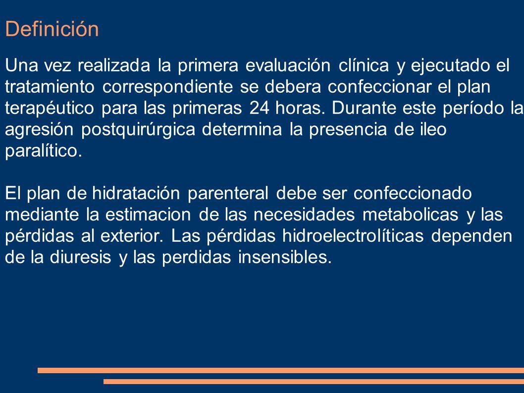 Definición Una vez realizada la primera evaluación clínica y ejecutado el tratamiento correspondiente se debera confeccionar el plan terapéutico para