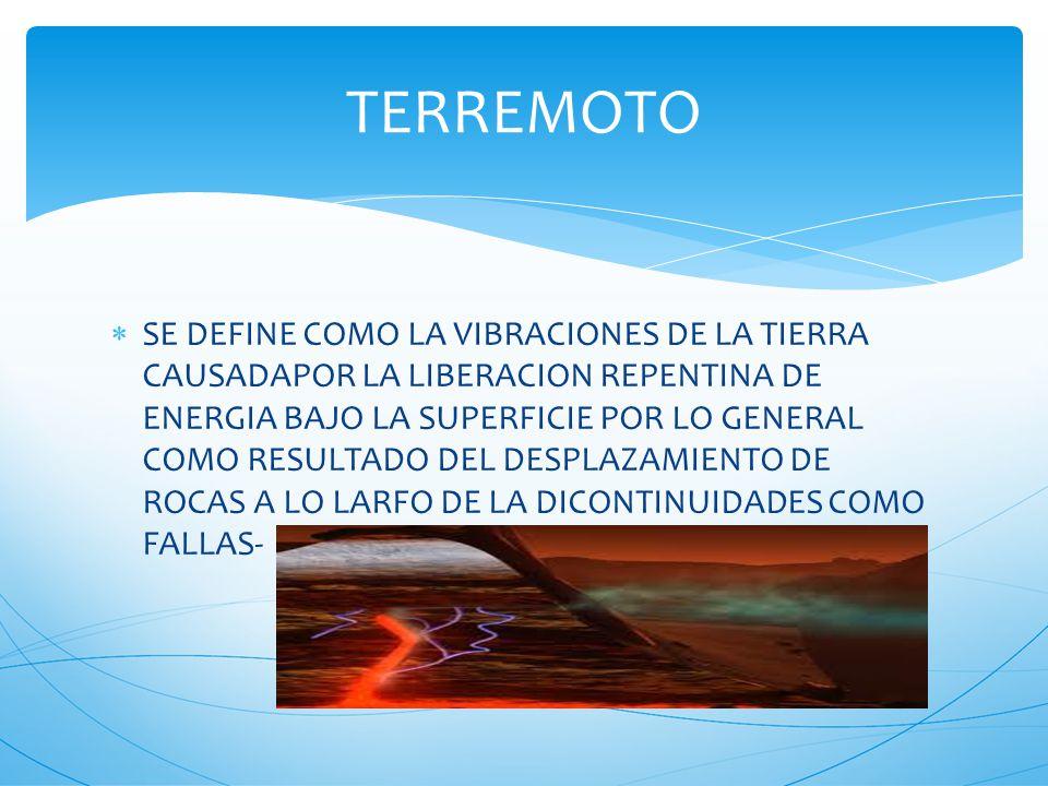 LA SISMOLOGIA PROVIENE DE LA RAMA DE LA GEOLOGIA FISICA QUE TRATA EL ESTUDIO DE LAS ONDAS SISMICAS Y TERREMOTOS.