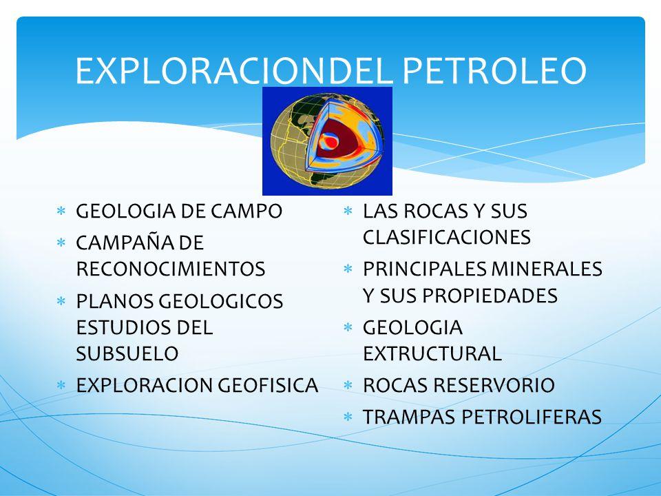 GEOLOGIA DEL PETROLEO CURSOS DE PETROLEO GRAL MOSCONI