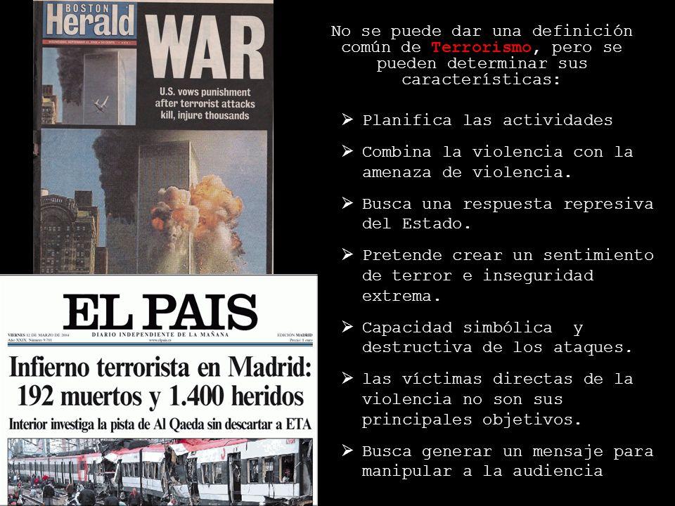 Nuevo Terrorismo New York Washington (2001) Bali (2002-2005) Yakarta(2003)