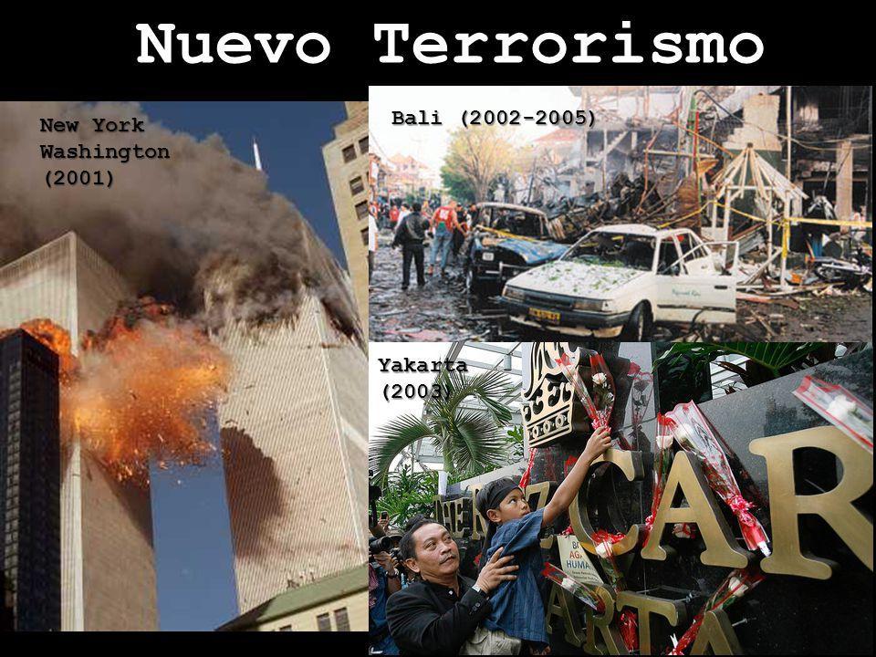Nuevo Terrorismo más letal y visible. New York Washington (2001) Madrid (2004) Londres(2005)
