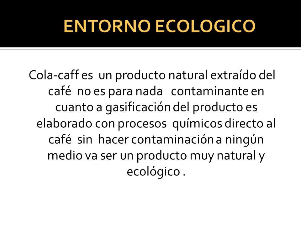 Cola-caff es un producto natural extraído del café no es para nada contaminante en cuanto a gasificación del producto es elaborado con procesos químic