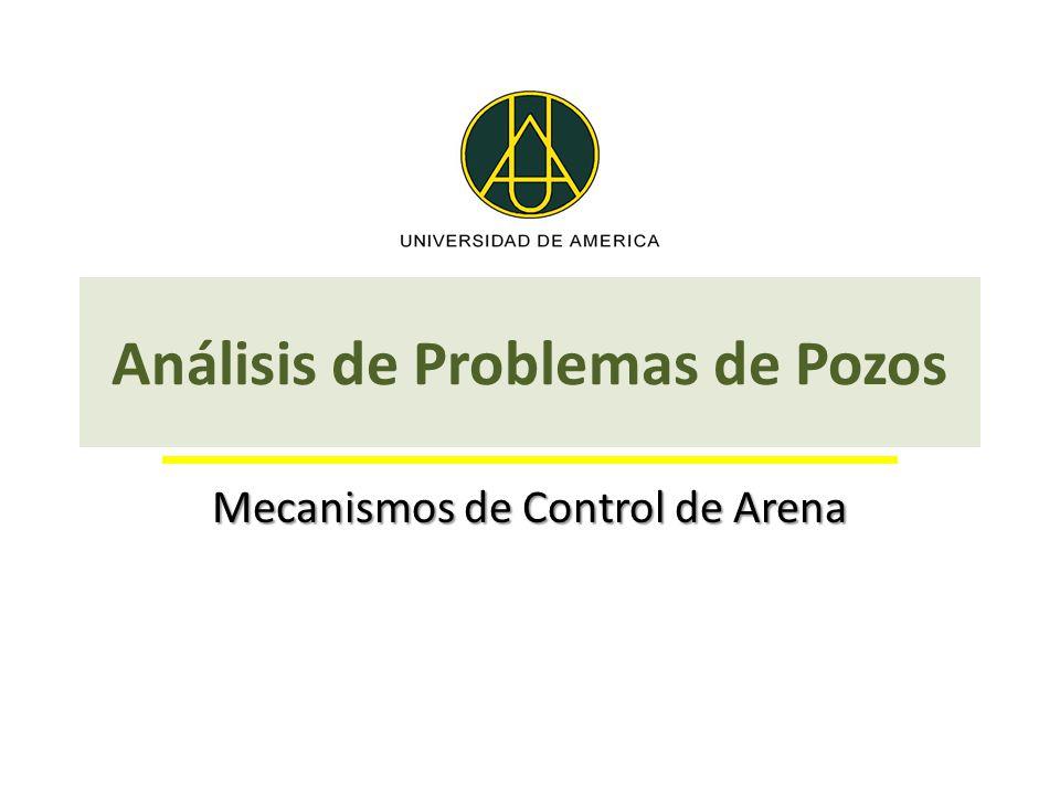 Análisis de Problemas de Pozos Mecanismos de Control de Arena