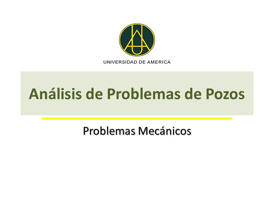 Análisis de Problemas de Pozos Problemas Mecánicos