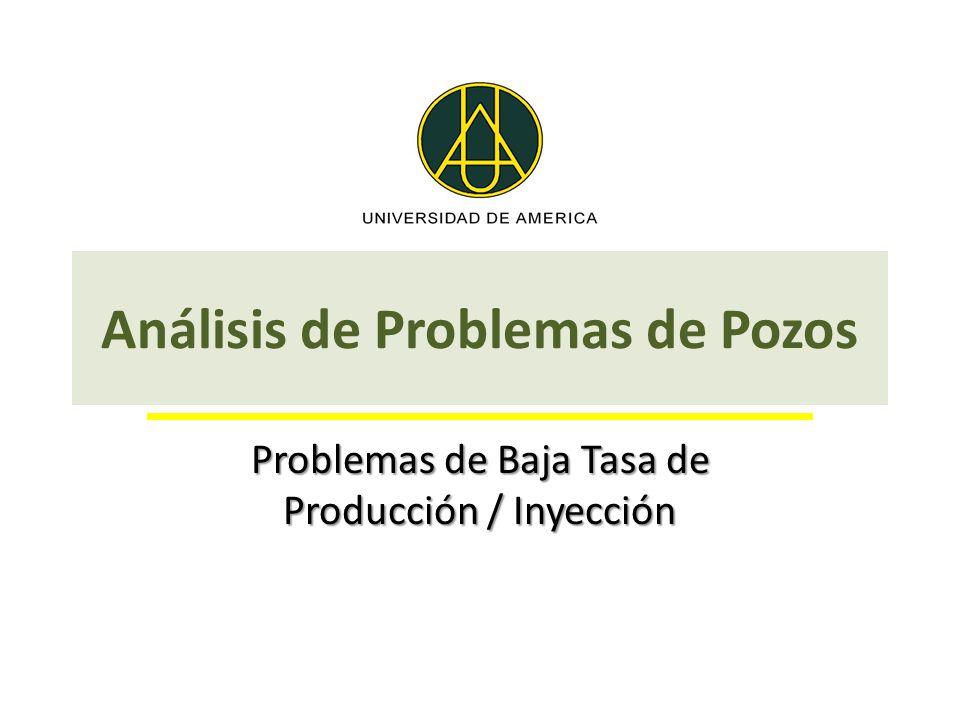 Análisis de Problemas de Pozos Problemas de Baja Tasa de Producción / Inyección