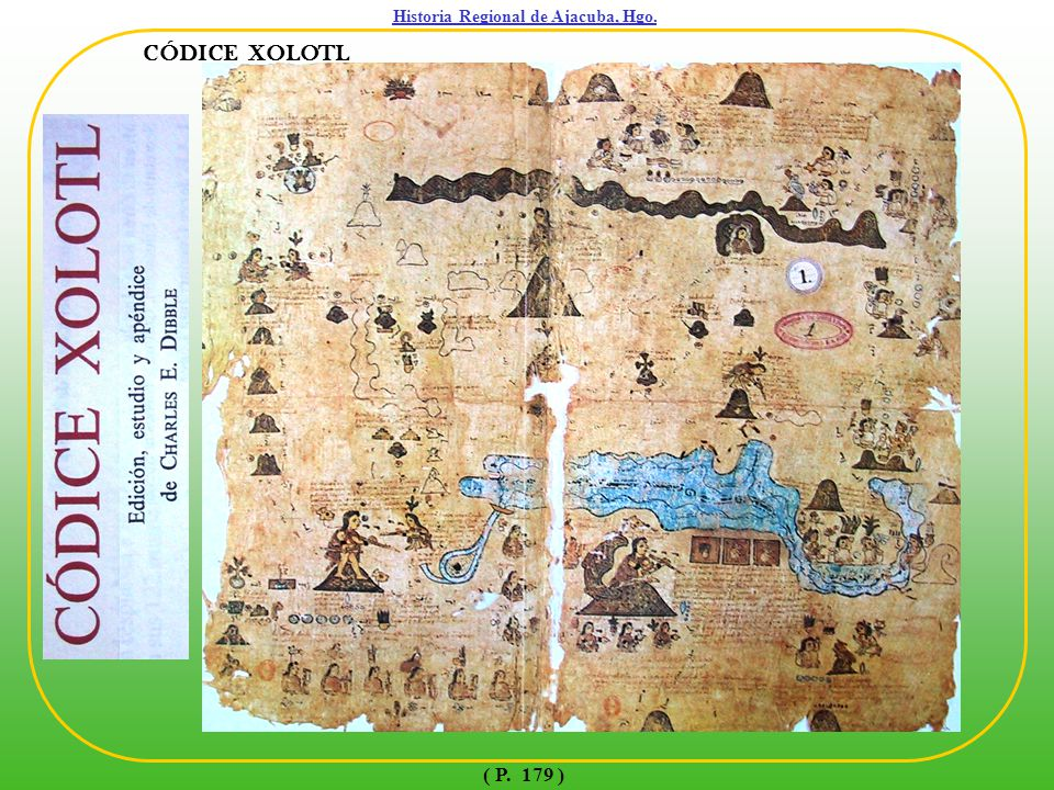 Historia Regional de Ajacuba, Hgo. ( P. 180 ) CÓDICE XOLOTL ( MAPA DE QUINATZIN )
