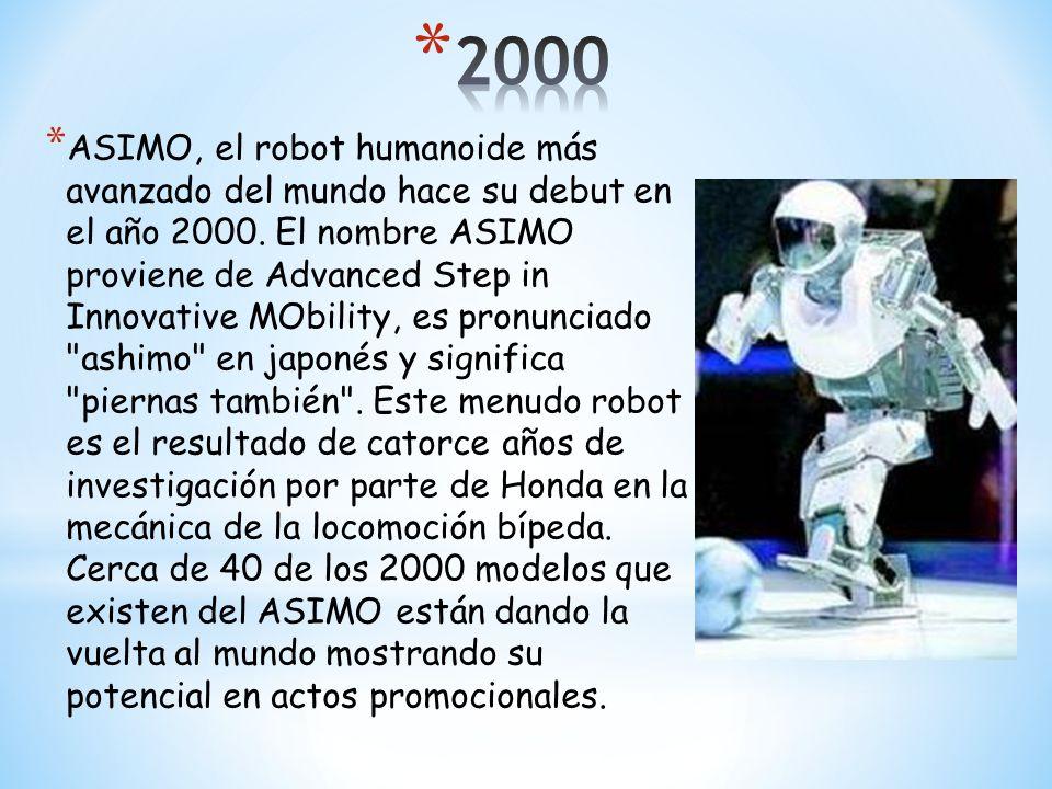 * Sony Lanza el Perro mascota Robótico AIBO.