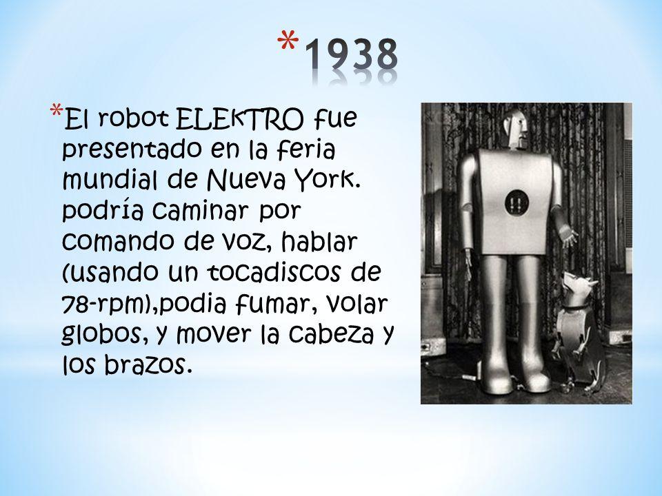 * El robot ELEkTRO fue presentado en la feria mundial de Nueva York.