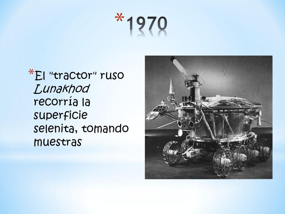 * El tractor ruso Lunakhod recorría la superficie selenita, tomando muestras