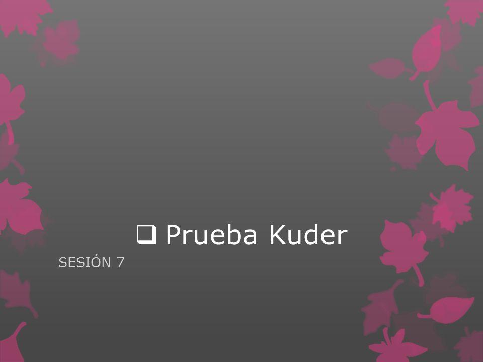 Prueba Kuder SESIÓN 7