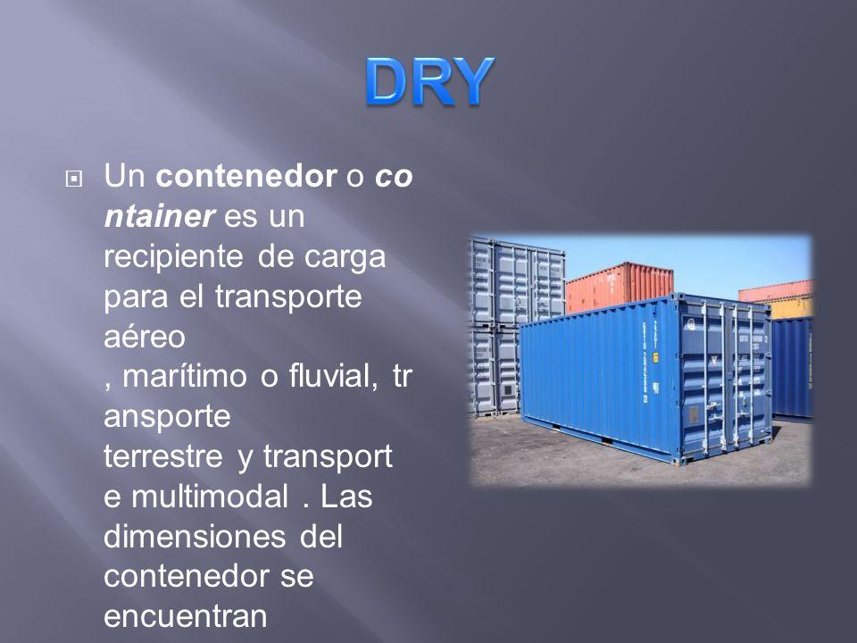 Un contenedor o co ntainer es un recipiente de carga para el transporte aéreo, marítimo o fluvial, tr ansporte terrestre y transport e multimodal. Las