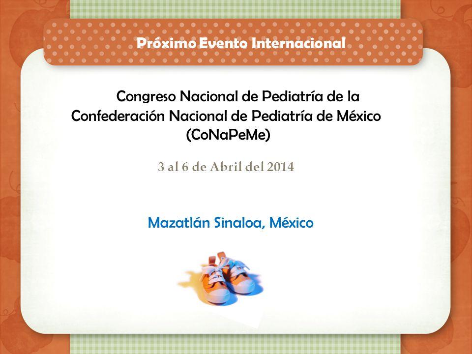 Próximos eventos CONGRESO SOBRE EL ABORDAJE TRANSDISCIPLINARIO EN EL SOBREPESO - OBESIDAD Y ENFERMEDADES METABOLICAS 3,4,5 de Abril del 2014 Sede Hote
