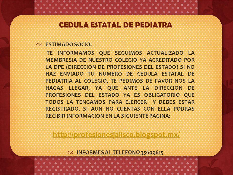 En el Colegio de Pediatría de Jalisco A.C. insistimos con la comunidad pediátrica en la realización e interpretación correcta de un simple exámen gene
