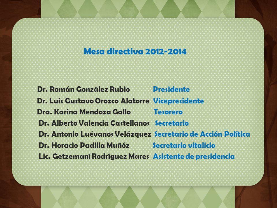 Agradecimiento En mi carácter de Presidente del Colegio de Pediatría de Jalisco agradezco infinitamente a todo el comité directivo 2012-2014 y sus com