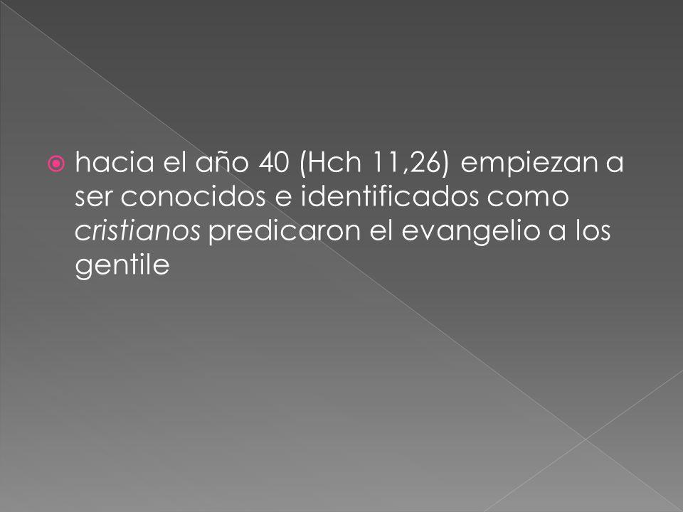 La persecución no fue, contra toda la comunidad cristiana, sino contra los helenistas.