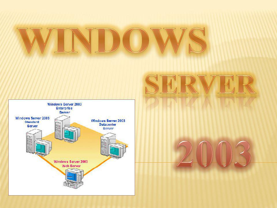 Windows Server 2003 es un sistema operativo de la familia Windows de la marca Microsoft para servidores que salió al mercado en el año 2003.