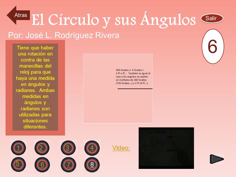 El Circulo Unitario Salir 2 1 43 6 5 78 Por: José L. Rodríguez Rivera En el Círculo Unitario de radio =1, la medida de los angulos están expresados en