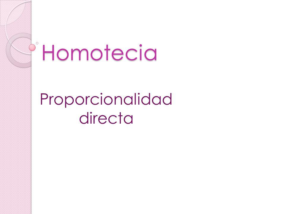 Homotecia Proporcionalidad directa