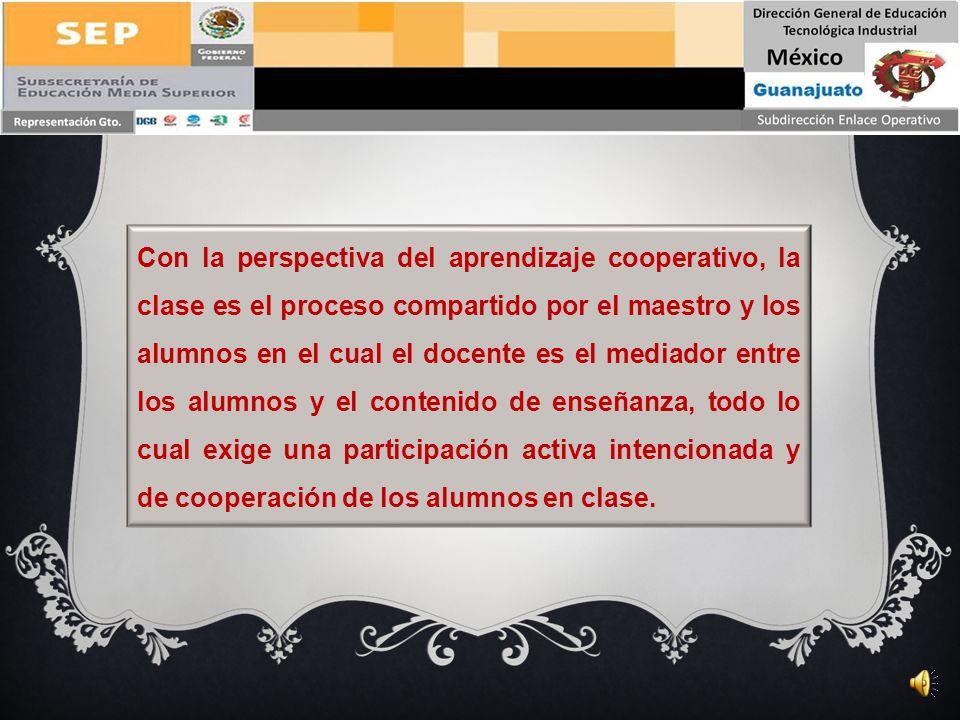 La segunda consideración se refiere a la estructura que como docentes hacemos de una clase de aprendizaje cooperativo, en este caso con el diseño de l