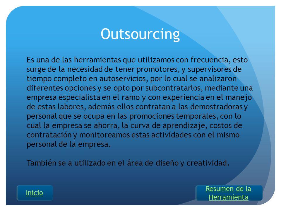 Es una de las herramientas que utilizamos con frecuencia, esto surge de la necesidad de tener promotores, y supervisores de tiempo completo en autoser
