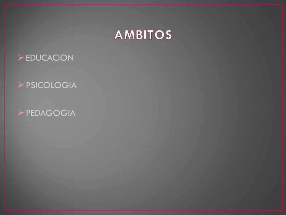 EDUCACION PSICOLOGIA PEDAGOGIA