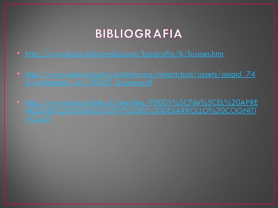 http://www.biografiasyvidas.com/biografia/b/bruner.htm http://www.utemvirtual.cl/plataforma/aulavirtual/assets/asigid_74 5/contenidos_arc/39247_bruner