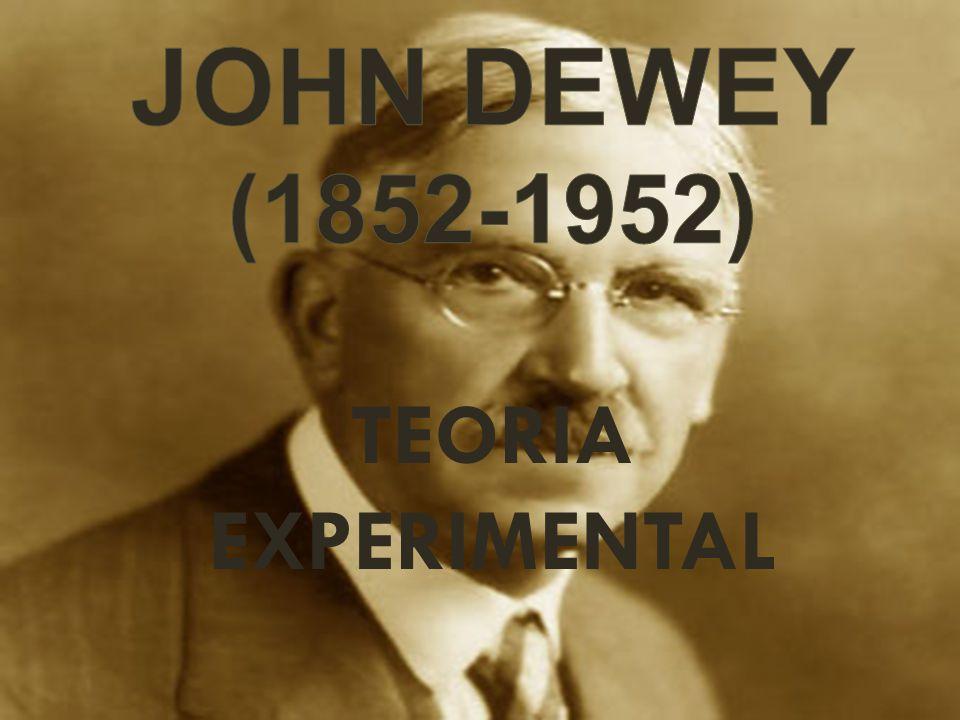 Psicólogo, pedagogo y filósofo Dewey desarrolló una filosofía que abogaba por la unidad entre la teoría y la práctica.