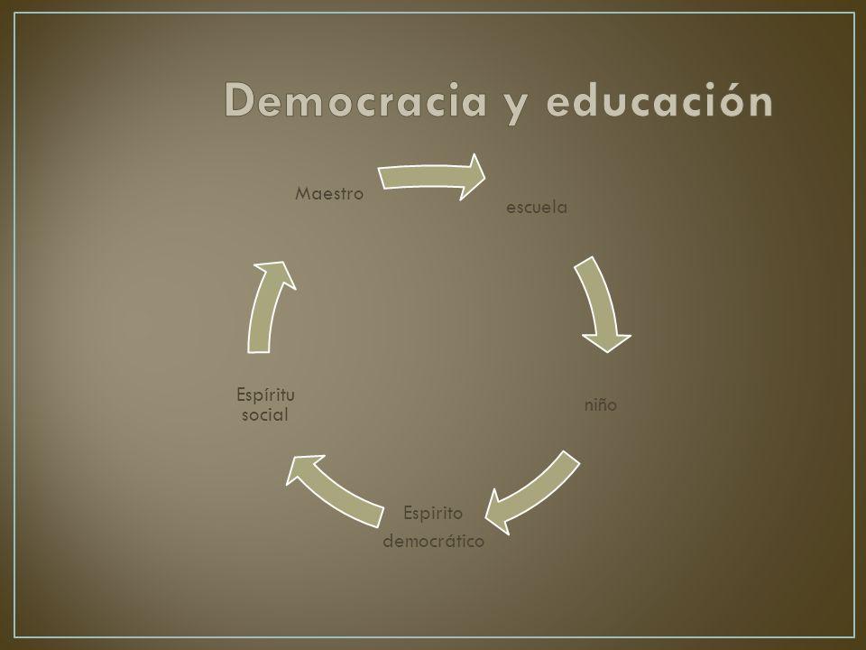 escuela niño Espirito democrático Espíritu social Maestro