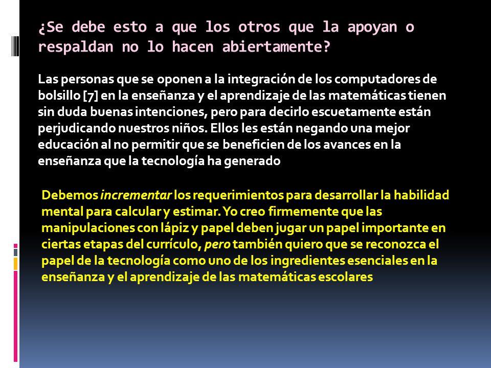 Principios y Estándares para Matemáticas Escolares, 2000 del National Council of Teachers of Matematics (NCTM, por su sigla en inglés) [11].