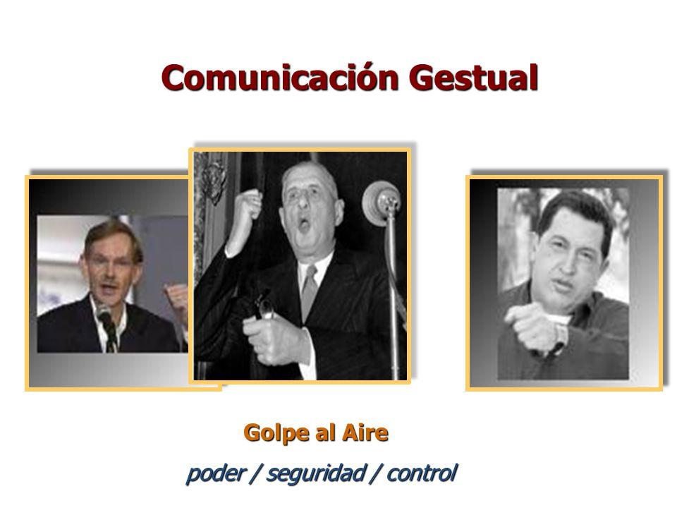 Golpe al Aire poder / seguridad / control Comunicación Gestual