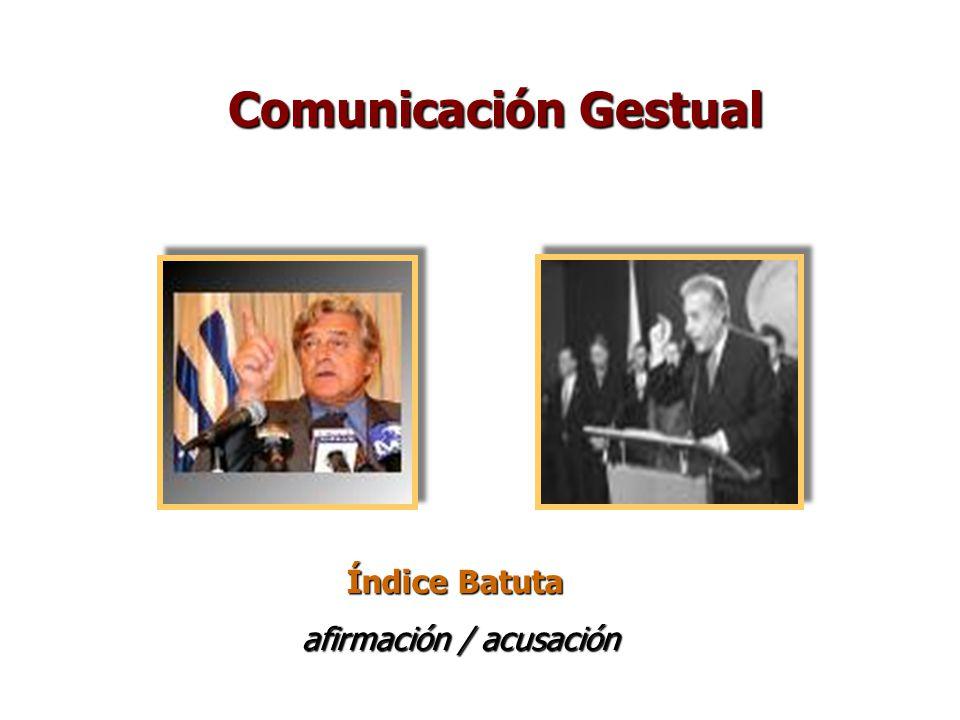Índice Batuta afirmación / acusación