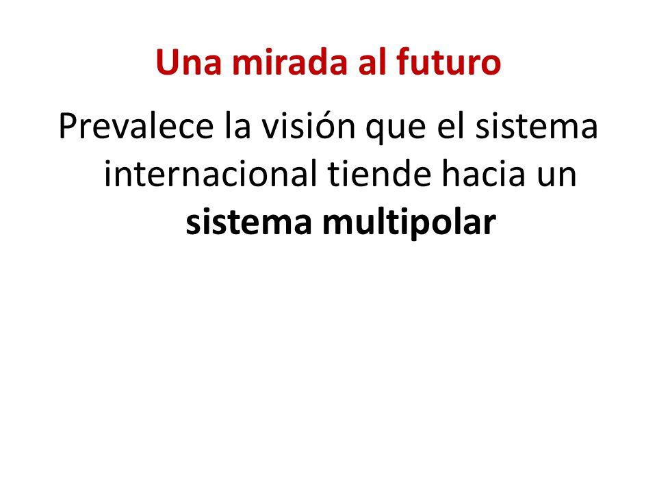 Una mirada al futuro Prevalece la visión que el sistema internacional tiende hacia un sistema multipolar
