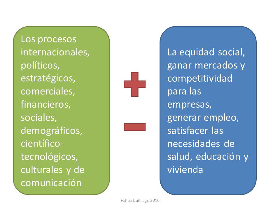 Los procesos internacionales, políticos, estratégicos, comerciales, financieros, sociales, demográficos, científico- tecnológicos, culturales y de com