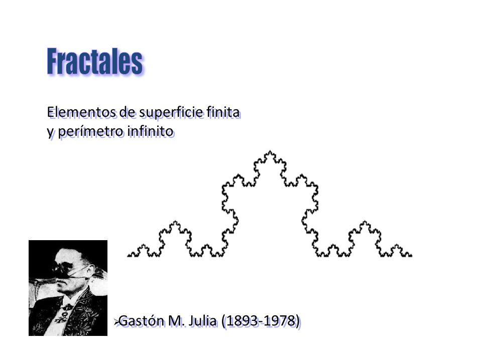 Gastón M. Julia (1893-1978) Elementos de superficie finita y perímetro infinito Elementos de superficie finita y perímetro infinito