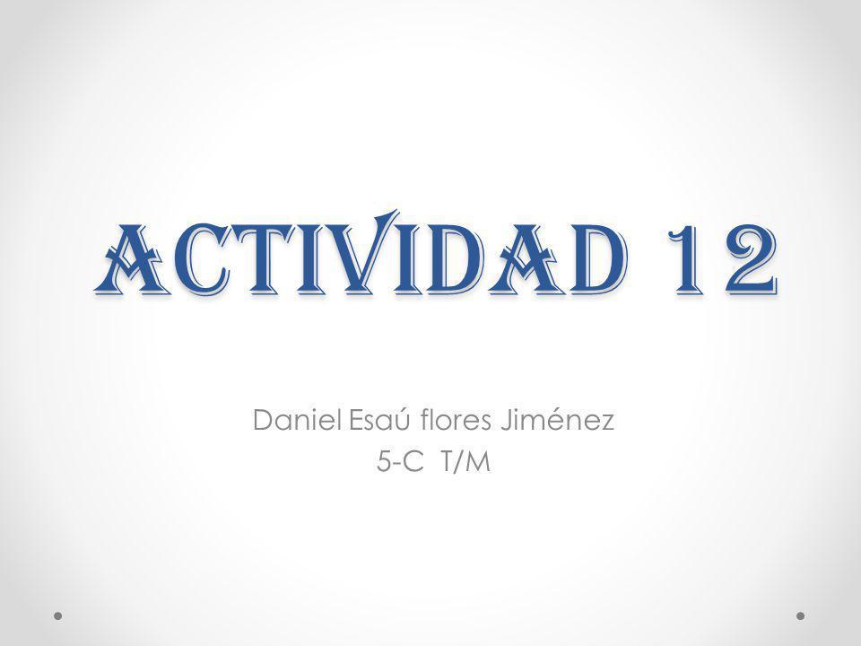 Actividad 12 Daniel Esaú flores Jiménez 5-C T/M