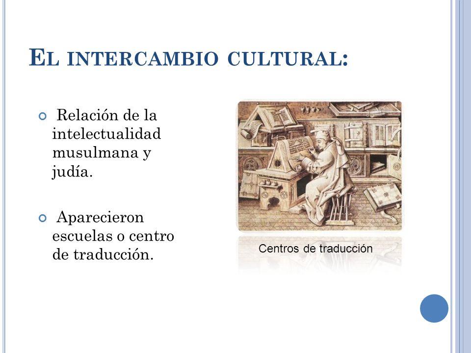 E L INTERCAMBIO CULTURAL : Relación de la intelectualidad musulmana y judía.