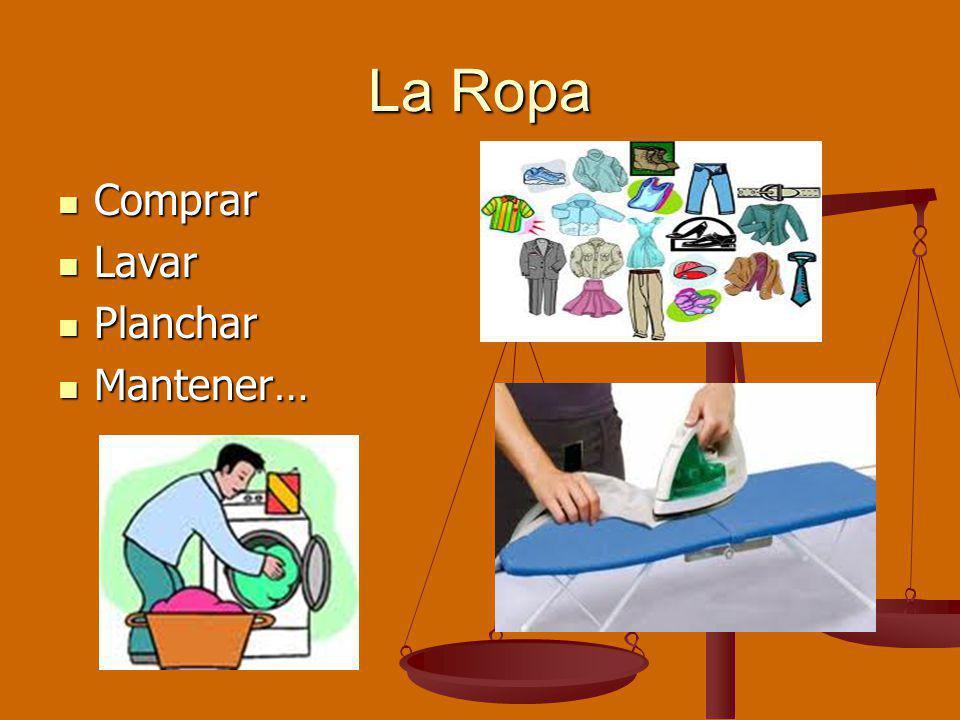 La Ropa Comprar Comprar Lavar Lavar Planchar Planchar Mantener… Mantener…