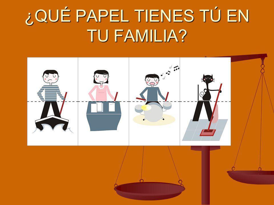 ¿QUÉ PAPEL TIENES TÚ EN TU FAMILIA?