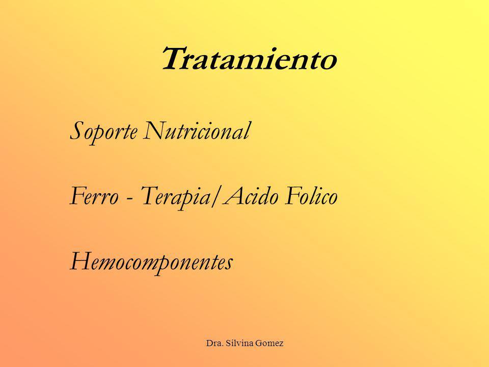 Dra. Silvina Gomez Tratamiento Soporte Nutricional Ferro - Terapia/Acido Folico Hemocomponentes