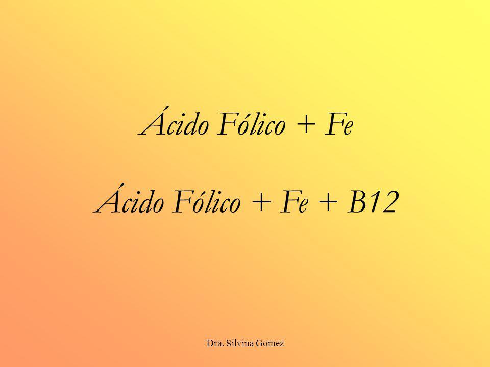 Dra. Silvina Gomez Ácido Fólico + Fe Ácido Fólico + Fe + B12